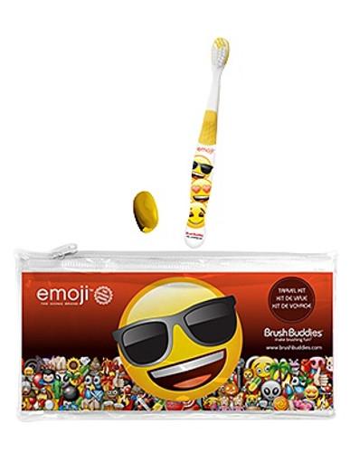 Emoji Eco Travel Kit w/Brush, Cap, Pouch