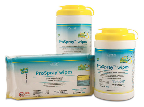 Certol ProSpray Wipes