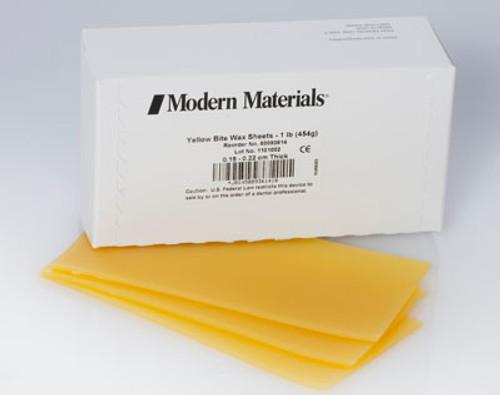 Modern Materials Yellow Bite Wax Sheets