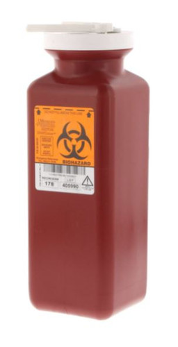 Sharps Container w/Needle Remover, Lg 1.7 Quart Re