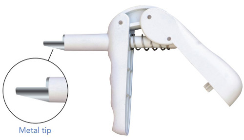 Composite Dispensing Gun with Metal Tip
