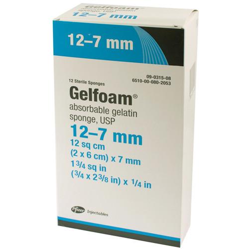 PFI-1545, Pfizer Gelfoam Absorbable Sterile Hemostatic Dental Sponge #12 12-7mm
