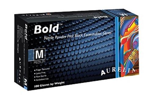 Aurelia BOLD Black Nitrile PF Exam Gloves