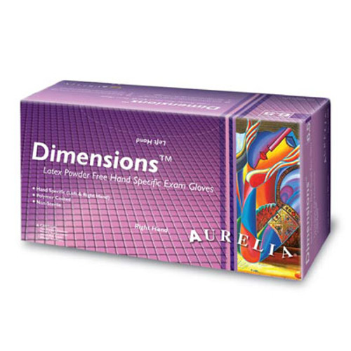 Aurelia Dimensions Fitted PF Latex Exam Gloves
