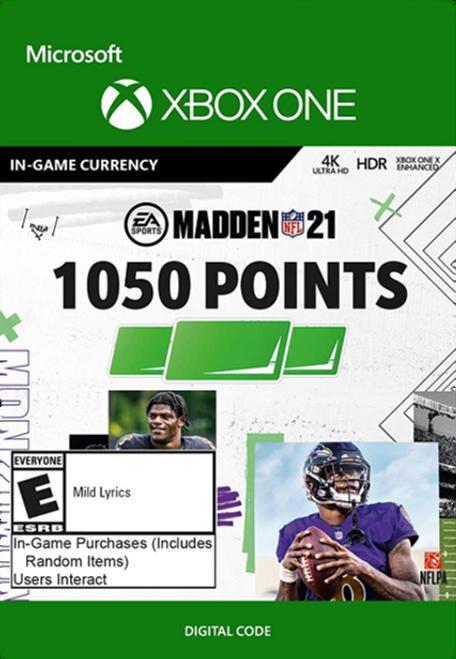 Madden 21 1050 Madden Points Pack