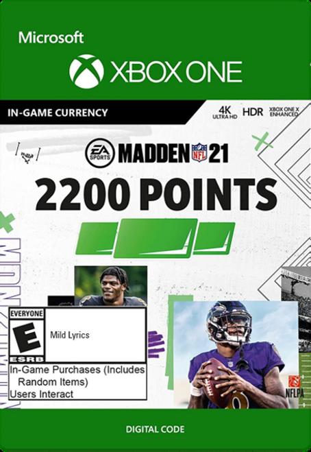 Madden 21 2200 Madden Points Pack