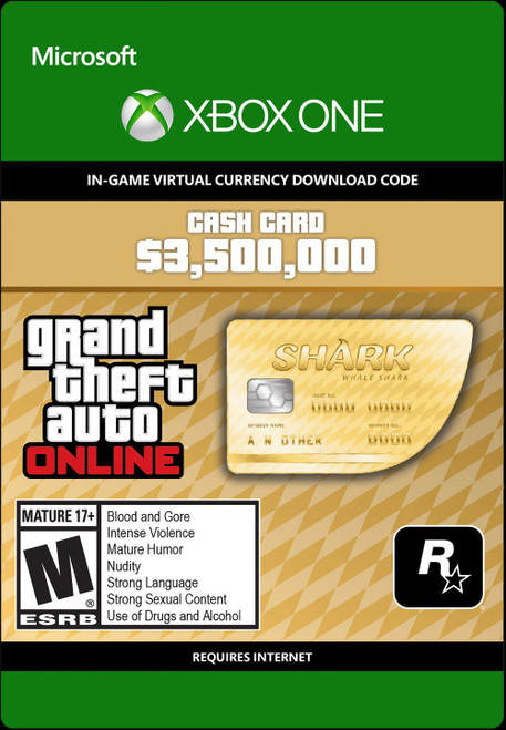 Grand Theft Auto V Whale Shark Cash Card