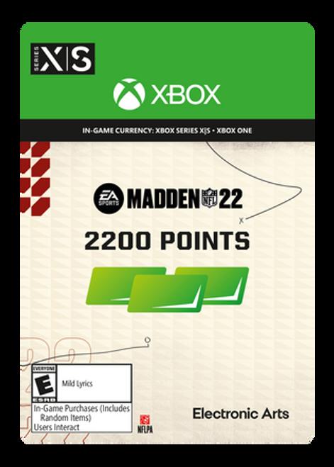 Madden NFL 22 - 2200 Madden Points