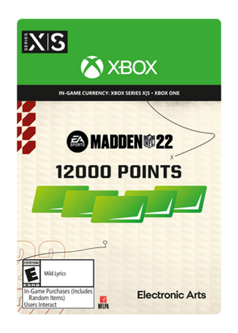 Madden NFL 22 - 12000 Madden Points