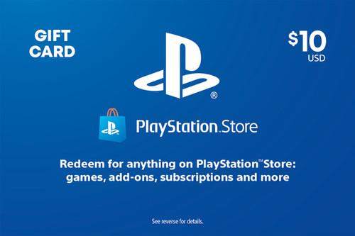 PlayStation Store Digital Gift Code - $10