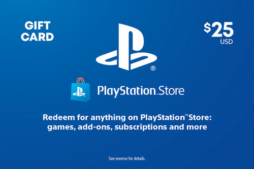 PlayStation Store Digital Gift Code - $25