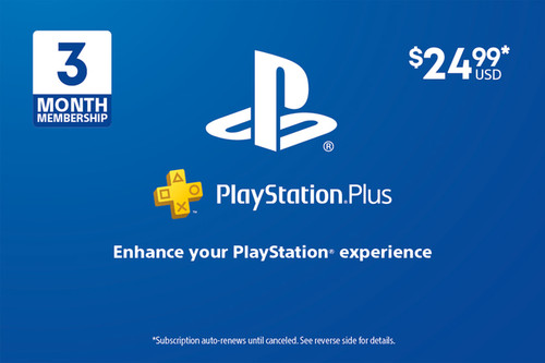 PlayStation Plus - 3 Month Subscription - Digital Code