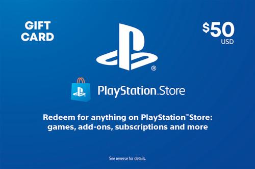 PlayStation Store Digital Gift Code - $50