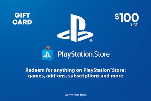 PlayStation Store Digital Gift Code - $100