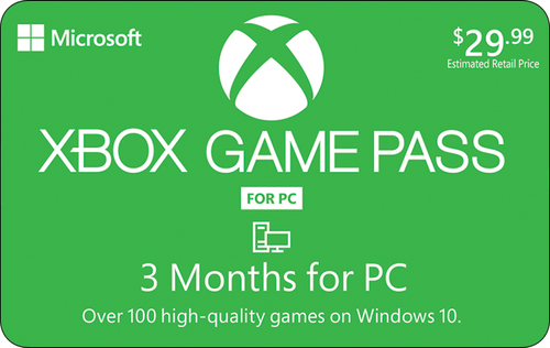Xbox Game Pass - PC Only - 3 Month Subscription - Digital Code