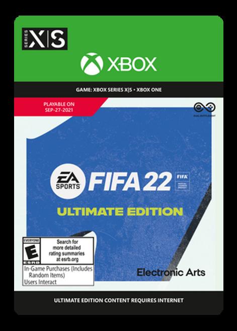 FIFA 22: Ultimate Edition - PRE-PURCHASE Digital Code