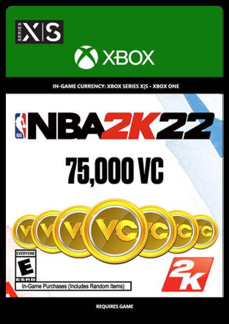 Xbox NBA 2K22: 75000 VC