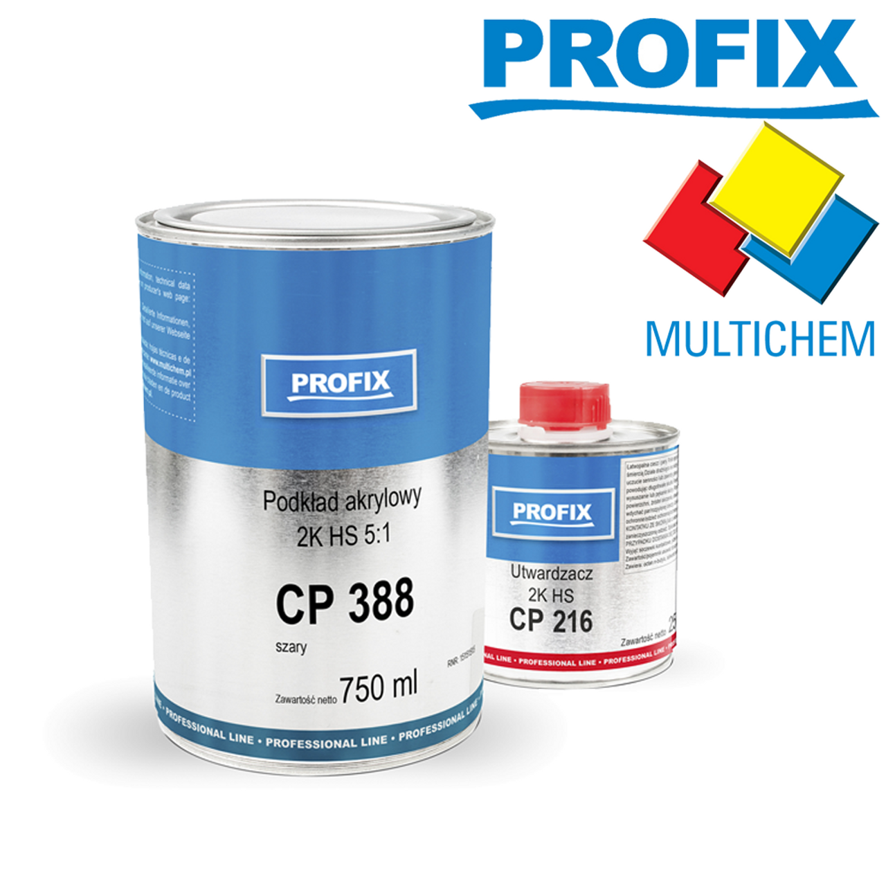 Profix Acrylic Primer Filler CP 388 2K HS 5:1 750ml Grey + Hardener