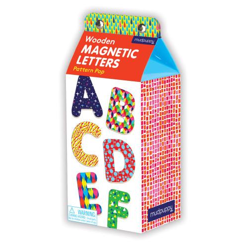 Pattern Pop Wooden Magnetic Letters