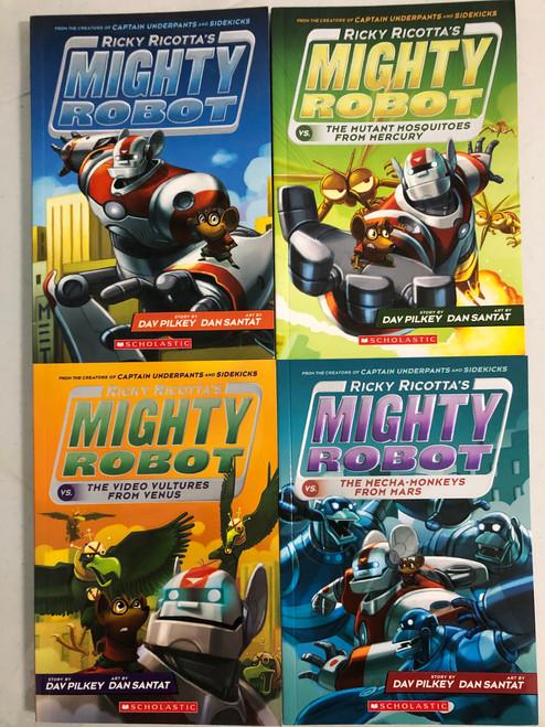 Ricky Ricotta's Mighty Robot Vol. 1-4