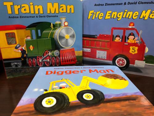 Digger Man Board Book Trio