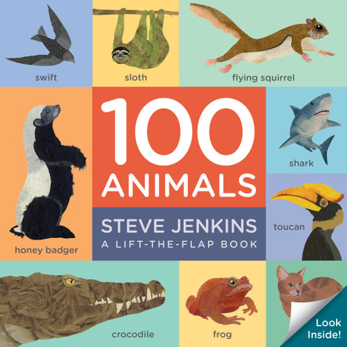 100 Animals (Lift-the-Flap Padded Board Book)