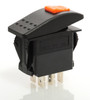 Locking Rocker switch, Carling, V Series, double pole, on on, lock on actuator, full switch and cap, protects from accidentally turning it on, VDD1SW0B-AZE,100-1304,1776010141-00,RCV-00011712