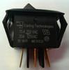 RSCB211-R-B-B-O-N carling, rocker switch, curvette, on on, spdt, spade terminals, black,1112434,130787,m01345,rk7186