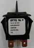 Otto sealed rocker switch, momentary, K2 series, double pole K2ALMAAAAA, black paddle actuator, pinned handle
