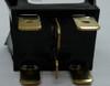 Otto sealed rocker switch, momentary, K2 series, double pole K2ALMAAAAA, black paddle actuator