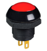 P9M-111121 Otto Latching On-Off Sealed Push Button Switch, Red Button