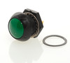 P9M-111125 Otto Latching On-Off Sealed Push Button Switch, Green Button
