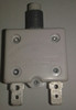 1600-037-220 Push to reset circuit breaker, 22 amp, white button, spade terminals