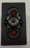 VJD2UCCB- On-Off-On Carling V series rocker switch, 2 Ind Red Leds
