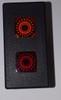 VP166-B11RE-00000 Carling 12 Volt Incandescent Rectangular Red & Amber Indicator Light