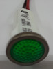 12 Volt Green Round LED Indicator Light, Wire Leads, 1092D5-12V