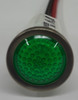 125 Volt Green LED Round Indicator Light, Wire Leads, 1092D5-125VAC
