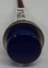 Round Blue High Hat Lens 12 Volt LED Indicator Light, Wire Leads, 1092C6-12V