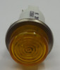 Round Amber High Hat Lens 125 Volt LED Indicator Light, Spade Terminals, 1092QC3-125VAC