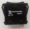 L18D1CHH1-3AAFE-1FC Double Momentary Rocker Switch with 2 Green Leds, Bright and Dim Etched on Actuator