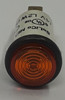 indicator light, 14 volt, amber, incandescent, cylinder rings lens, quick connects, Solico, 3035-3-11-37620. 8065833