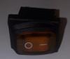 Sealed Miniature Illuminated Rocker Switch, 12 Volt Amber LED KCD1-2-101NW-C3-0B-12V