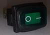Green Sealed Miniature Illuminated Rocker Switch, 12 Volt Green LED KCD1-2-101NW-C3-GB-12V