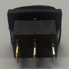 Sealed Miniature Blue Illuminated Rocker Switch, 12 Volt Blue LED KCD1-2-101NW-C3-BLB-12V