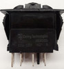 Carling V series rocker switch, double pole, on -off- on maintained, 2 dependent lamps, VJD1D66B,00001667,0330150,11721,1825-130,20534,251205,34-0207,501973,P20001200,RS-CAR-010