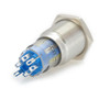 16 mm, sealed, anti vandal, push button, momentary, white, illuminated, 110 volt, ch2nesw110s, white illumination