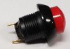 push button, otto, latching, on off, maintained,  raised red button, solder terminals, P9M-211121