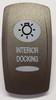 Pewter Interior Docking Carling V Series Rocker Switch Cap, Pewter with 1 White Lens, Master Light Symbol, 468-36361-001, VVPZEAC-1XX-XDCK1, 033-5078