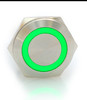 22 mm, sealed, anti vandal, push button, latching, push on, push off,, red and green, 12 volt illuminated, DH221LBSRG12, 12 volt red or green illumination