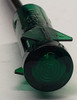 3535-1-00-23640, indicator light 14 volt incandescent, wire leads, green, ring lens,  panel mount indicator, 10211580